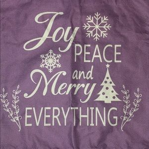 New Joy, Peace and Merry Everything pillow case
